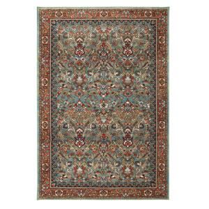 Spice Market Tigris Aquamarine Rectangular: 5 Ft 3 In x 7 Ft 10 In Rug