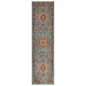 Spice Market Deir Aquamarine Runner: 2 Ft. 4 In. x 7 Ft. 10 In. Rug
