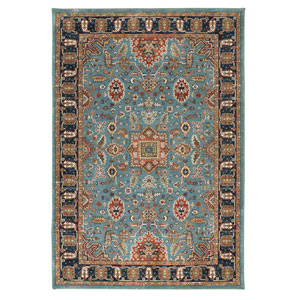 Spice Market Deir Aquamarine Rectangular: 5 Ft 3 In x 7 Ft 10 In Rug