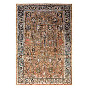 Spice Market Myanmar Tobacco Rectangular: 5 Ft 3 In x 7 Ft 10 In Rug
