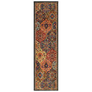 Spice Market Levant Multicolor Runner: 2 Ft. 4 In. x 7 Ft. 10 In. Rug