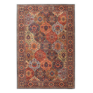 Spice Market Levant Multicolor Rectangular: 5 Ft 3 In x 7 Ft 10 In Rug