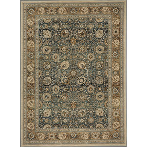 Spice Market Taprobana Sapphire Rectangular: 3 Ft. 5-Inch x 5 Ft. 5-Inch Area Rug