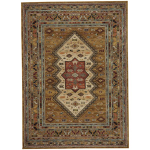 Spice Market Mandeb Tobacco Rectangular: 3 Ft. 5-Inch x 5 Ft. 5-Inch Area Rug