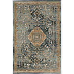 Touchstone Suir Blue Teal Runner: 2 Ft. 4 In. x 7 Ft. 10 In. Rug