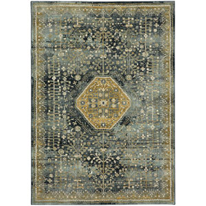 Touchstone Suir Blue Teal Rectangular: 3 Ft. 6-Inch x 5 Ft. 6-Inch Area Rug