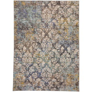 Surya Aberdine Teal And Gray Rectangular 2 Ft 2 In X 3 Ft