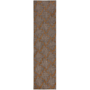 Cosmopolitan Marais Smokey Gray Runner: 2 Ft. 4 In. x 7 Ft. 10 In. Rug