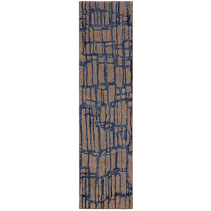 Enigma Twilight Indigo Runner: 2 Ft. 4 In. x 7 Ft. 10 In. Rug
