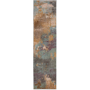Enigma Patina Multicolor Runner: 2 Ft. 4 In. x 7 Ft. 10 In. Rug