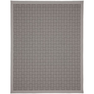 Portico Naxos Silver Rectangular: 5 Ft. 3 In. x 7 Ft. 10 In. Indoor/Outdoor Rug
