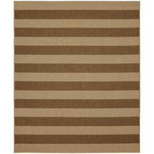 Portico Riviera Stripe Natural Rectangular: 6 Ft. 7-Inch x 9 Ft. 6-Inch