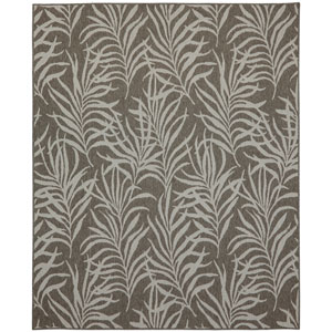 Portico Hanalei Bay Silver Rectangular: 5 Ft. 3 In. x 7 Ft. 10 In. Indoor/Outdoor Rug