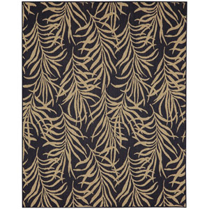 Portico Hanalei Bay Navy Rectangular: 6 Ft. 7-Inch x 9 Ft. 6-Inch