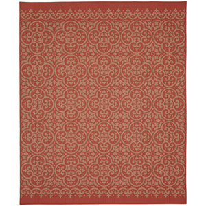 Portico Amalfi Coral Rectangular: 5 Ft. 3 In. x 7 Ft. 10 In. Indoor/Outdoor Rug