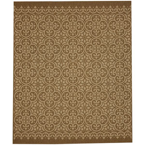 Portico Amalfi Natural Rectangular: 5 Ft. 3 In. x 7 Ft. 10 In. Indoor/Outdoor Rug