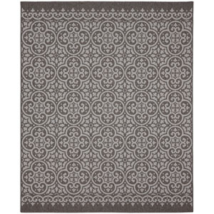 Portico Amalfi Silver Rectangular: 6 Ft. 7-Inch x 9 Ft. 6-Inch