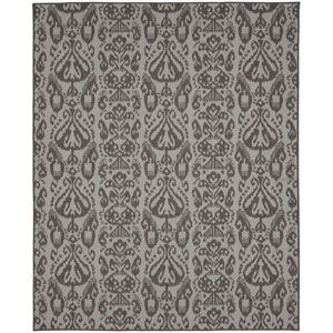 Portico Bondi Gray Rectangular: 6 Ft. 7-Inch x 9 Ft. 6-Inch