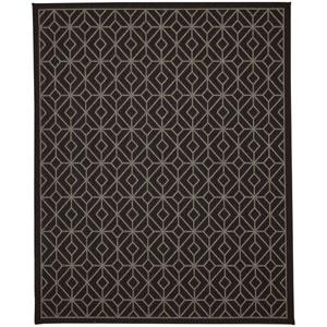 Portico Tremiti Onyx Rectangular: 5 Ft. 3 In. x 7 Ft. 10 In. Indoor/Outdoor Rug