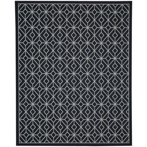 Portico Tremiti Navy Rectangular: 6 Ft. 7-Inch x 9 Ft. 6-Inch