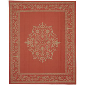 Portico San Tropez Coral Rectangular: 6 Ft. 7-Inch x 9 Ft. 6-Inch