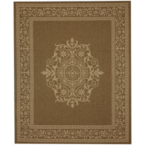 Portico San Tropez Natural Rectangular: 5 Ft. 3 In. x 7 Ft. 10 In. Indoor/Outdoor Rug