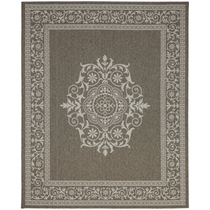 Portico San Tropez Grey Rectangular: 5 Ft. 3 In. x 7 Ft. 10 In. Indoor/Outdoor Rug