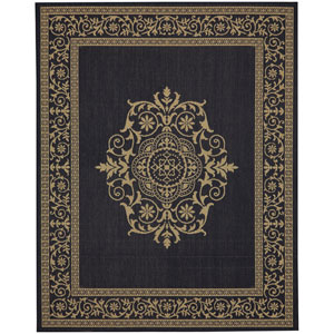 Portico San Tropez Navy Rectangular: 5 Ft. 3 In. x 7 Ft. 10 In. Indoor/Outdoor Rug