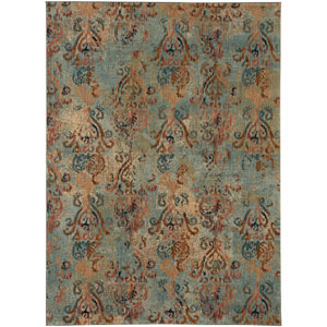 Intrigue Wile Aquamarine Rectangular: 3 Ft. 5 In. x 5 Ft. 5 In. Rug