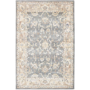 Euphoria Liffey Willow Gray Rectangular: 3 Ft. 6 In. x 5 Ft. 6 In. Rug