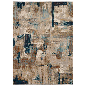 Intrigue Envision Aquamarine Rectangular: 3 Ft. 5 In. x 5 Ft. 5 In. Rug