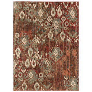 Intrigue Rivet Multicolor Rectangular: 3 Ft. 5 In. x 5 Ft. 5 In. Rug