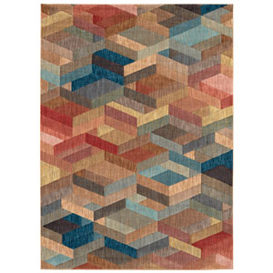 Intrigue Ignite Multicolor Rectangular: 3 Ft. 5 In. x 5 Ft. 5 In. Rug