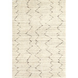 Prima Shag Fassi Cream Rectangular: 4 Ft x 5 Ft 7 In Rug