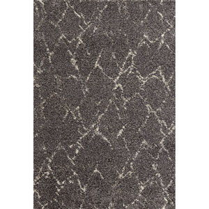 Prima Shag Casablanca Taupe Rectangular: 4 Ft x 5 Ft 7 In Rug