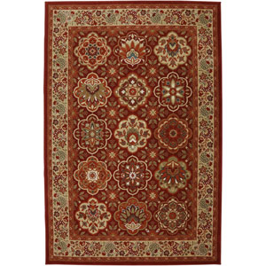 Symphony Copperhill Madder Brown Rectangular: 3 Ft 6 In x 5 Ft 6 In Rug