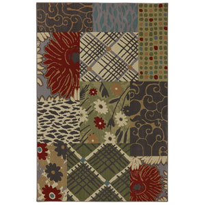 Symphony Emporia Patchwork Multicolor: 3 Ft 6 In x 5 Ft 6 In Rug
