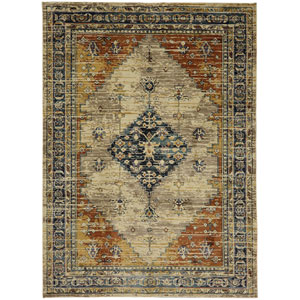 Providence Parlin Marigold Rectangular: 5 Ft. 3-Inch x 7 Ft. 10-Inch Rug