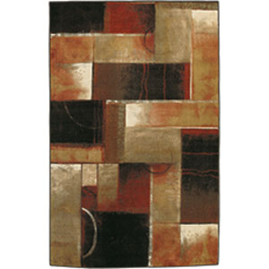 Contemporary Abstract Multicolor Rectangular: 7 Ft. 6 In. x 11 Ft.