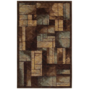Contemporary Geometric Multicolor Rectangular: 5 Ft. x 8 Ft.