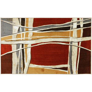 Contemporary Abstract Multicolor Rectangular: 7 Ft. 6 In. x 11 Ft. Rug
