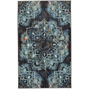 Contemporary Ornamental Navy Rectangular: 7 Ft. 6 In. x 10 Ft.