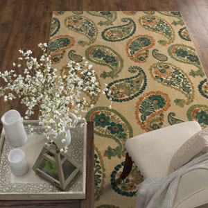 Transitional Paisley Multicolor Rectangular: 5 Ft. x 8 Ft.