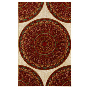 Contemporary Ornamental Multicolor Rectangular: 5 Ft. x 8 Ft. Rug