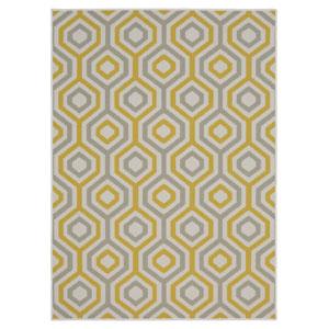 Contemporary Geometric Cream Rectangular: 5 Ft. x 7 Ft. Rug