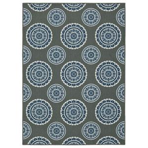 Contemporary Ornamental Gray Rectangular: 5 Ft. x 7 Ft. Rug