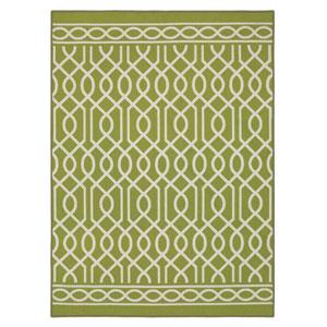 Contemporary Geometric Lime Rectangular: 5 Ft. x 7 Ft. Rug