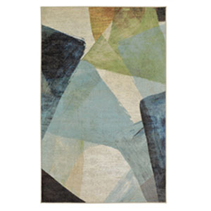 Contemporary Abstract Multicolor Rectangular: 5 Ft. x 8 Ft.