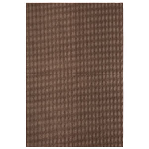 Casual Tone on Tone Dark Taupe Rectangular: 6 Ft. x 9 Ft. Rug