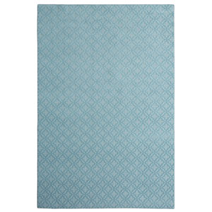 Casual Tone on Tone Blue Lagoon Rectangular: 6 Ft. x 9 Ft. Rug